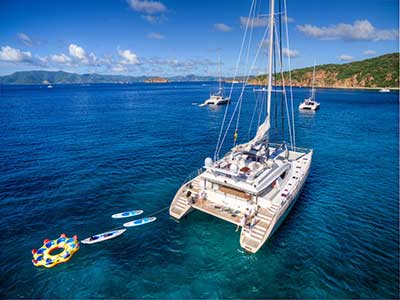 catamaran crewed yacht charters